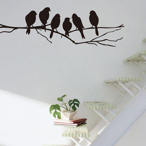 Shop Sweet Branch Bird Pattern Removeable Toilet Wall Sticker Animals