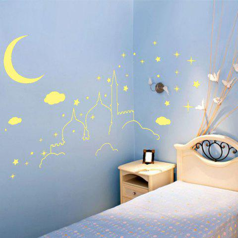 Outfit Castle Pattern Removable DIY Luminous Wall Sticker For Kids Room