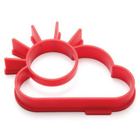 Cheap Creative Sun Cloud Silicone Fried Egg Mold Funny Kitchen Gadgets RED