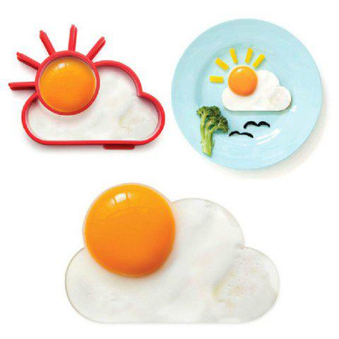 Outfit Creative Sun Cloud Silicone Fried Egg Mold Funny Kitchen Gadgets - RED  Mobile