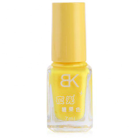 Unique 7ml bNoctilucent Fluorescent Lacquer Neon Glow In Dark Nail Polish - 02 YELLOW Mobile