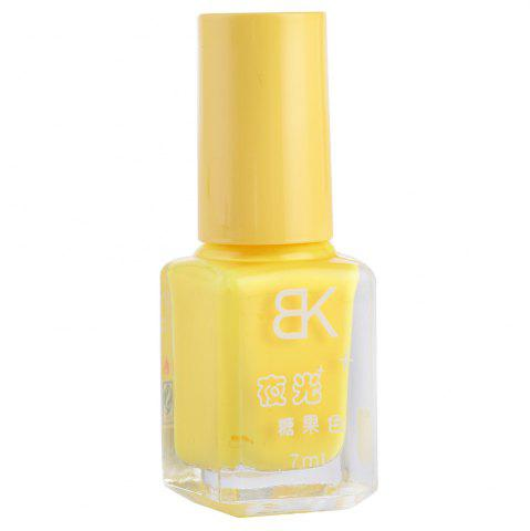 Best 7ml bNoctilucent Fluorescent Lacquer Neon Glow In Dark Nail Polish - 02 YELLOW Mobile