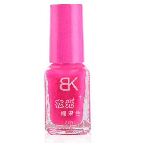 7ml bNoctilucent Fluorescent Lacquer Neon Glow In Dark Nail Polish - FLUORESCENT PINK 11
