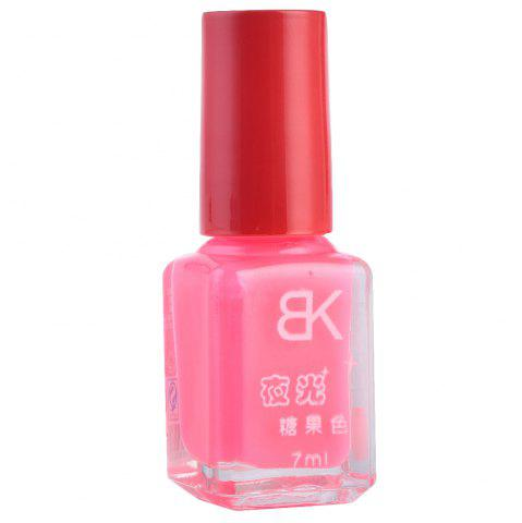Buy 7ml bNoctilucent Fluorescent Lacquer Neon Glow In Dark Nail Polish - 15 PINK Mobile