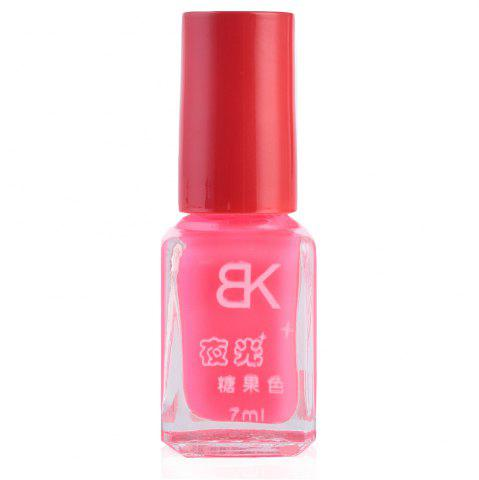 7ml bNoctilucent Fluorescent Lacquer Neon Glow In Dark Nail Polish - PINK 15