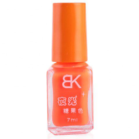 Unique 7ml bNoctilucent Fluorescent Lacquer Neon Glow In Dark Nail Polish - 16 ORANGE Mobile