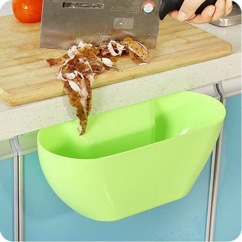 Best Practical Kitchen Trash Can Waste Container Hanging Storage Box Fruit Vegetable Organizer Pot - GREEN  Mobile