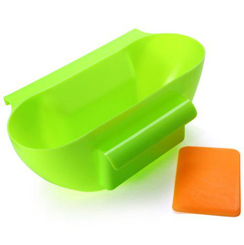 Affordable Practical Kitchen Trash Can Waste Container Hanging Storage Box Fruit Vegetable Organizer Pot - GREEN  Mobile