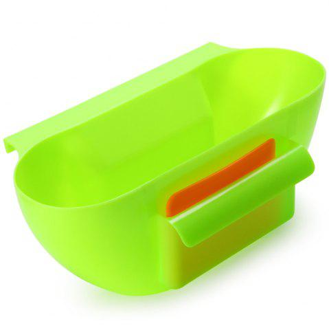 Chic Practical Kitchen Trash Can Waste Container Hanging Storage Box Fruit Vegetable Organizer Pot - GREEN  Mobile