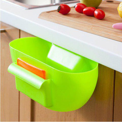 Outfit Practical Kitchen Trash Can Waste Container Hanging Storage Box Fruit Vegetable Organizer Pot - GREEN  Mobile