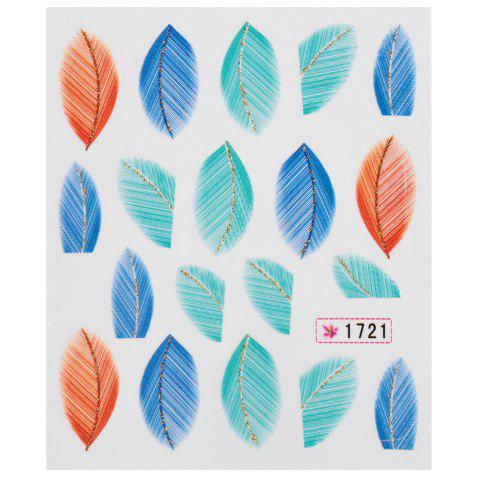 Cheap Fashionable Art Tips Feather Water Transfers Nail Sticker for Ladies - #1721  Mobile