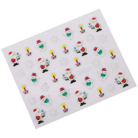 Cheap Fashionable Art Decorations Christmas Gift Girls3D Nail Stickers - #XF374  Mobile