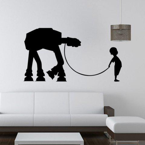 Outfits w-17 Boy AT-AT Walker Style Removable Wall Sticker Water Resistant Home Art Decals