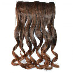 Fashion Fluffy Curly Stunning Long Brown Ombre Clip In Synthetic Hair Extension For Women -