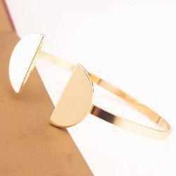 Stylish Solid Color Semicircle Shape Cuff Bracelet For Women -