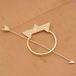 Vintage Arrow Shape Triangle Hairpin For Women - GOLDEN