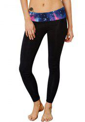 Active Style Slimming Galaxy Spliced Stretchy Women's Yoga Pants -