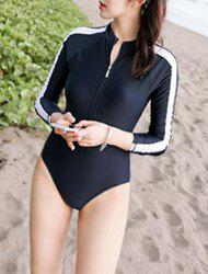 Long Sleeve Number Zipper Rashguard