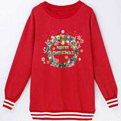 Women's Trendy Christmas Tree Long Sleeve Round Neck Sweatshirt -