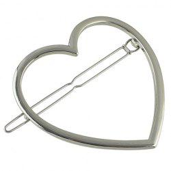 Simple Style Solid Color Heart Hairgrip For Women -