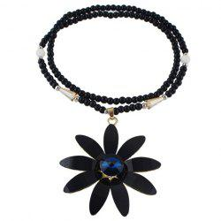 Graceful Faux Gemstone Blossom Beads Sweater Chain For Women