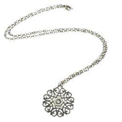 Rhinestone Filigree Flower Sweater Chain