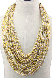 Bohemian Style Multilayered Beads Necklace For Women -
