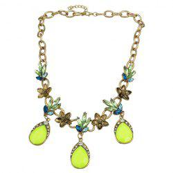 Trendy Faux Crystal Water Drop Necklace For Women -