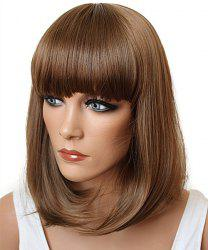 Assorted Color Fashion Medium Synthetic Bob Style Straight Full Bang Cosplay Wig For Women -