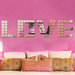 100PCS 2CM Square DIY 3D Mirror Effect Wall Art Sticker - SILVER