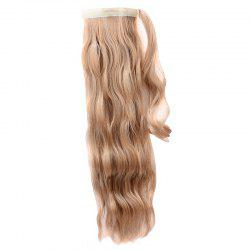 Attractive Long Water Wave High Temperature Fiber Ponytail For Women -