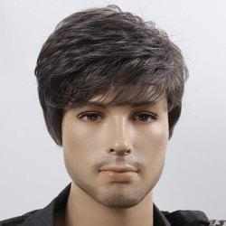 Short Fluffy Natural Wave Synthetic Men's Wig
