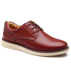 Vintage Style Engraving and PU Leather Design Men's Formal Shoes -