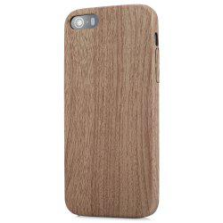 ASLING Wood Style Protective Back Case for iPhone 5 / 5S / SE Anti-scratch TPU Material Ultra-thin -