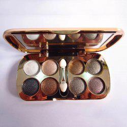 Practical 8 Colours Diamond Eyeshadow Palette with Mirror and Brush -