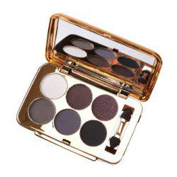 Practical 6 Colours Pearl Matte Eyeshadow Palette with Mirror and Brush -