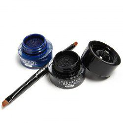 2 Pcs Waterproof Liquid Eyeliner Gel Kit - BLUE AND BLACK