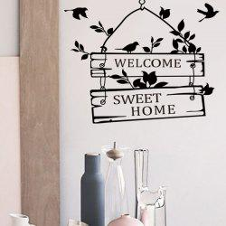 Hot Sale Welcome Sweet Home Wall Sticker For Living Room - BLACK