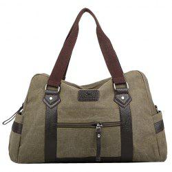 Leisure Zipper and Canvas Design Men's Messenger Bag -