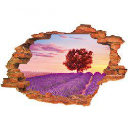 Lavender Pattern Design Removable 3D Wall Sticker For Home Decor