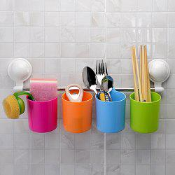 A Set Of Fashion Multifunction Strong Wall Sucker Storage Rack -