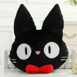 Hot Sale Cat Shape Cartoon Cushion Black Pillow - BLACK