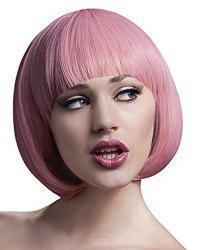 Sweet Short Synthetic Straight Bob Style Assorted Color Full Bang Cosplay Wig For Women -