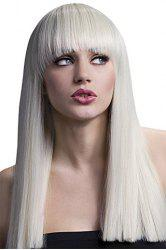 Fashion Full Bang Synthetic Assorted Color Stunning Long Silky Straight Cosplay Wig For Women -
