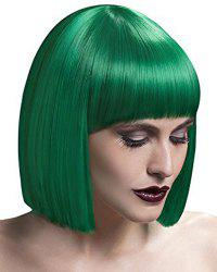 Elegant Short Silky Straight Bob Style Synthetic Full Bang Assorted Color Cosplay Wig For Women -