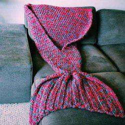 Artist Playfully Redesigns Cozy Mermaid Tails Knitted Blankets and Throws - RED W15.75INCH*L35.43INCH