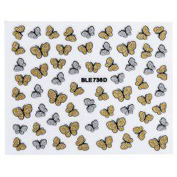 Fashion 3D DIY Butterfly Nail Art Shinning Stickers -