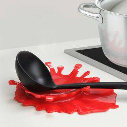 2 in 1 Creative Splash Tomato Sauce Style Spoon Utensil Holder Bottle Cup Pad