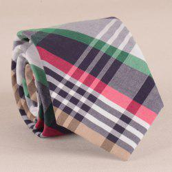 Stylish Plaid Pattern 7.5CM Width Various Color Tie For Men