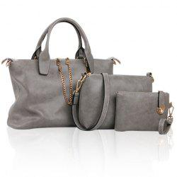 Simple Chains and Solid Color Design Women's Tote Bag -